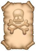 Pirate Pergament a4 — Stockfoto