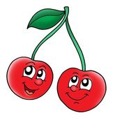 Smiling red cherries — Stock Photo