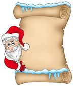 Winter parchment with Santa Claus 1 — Stock Photo