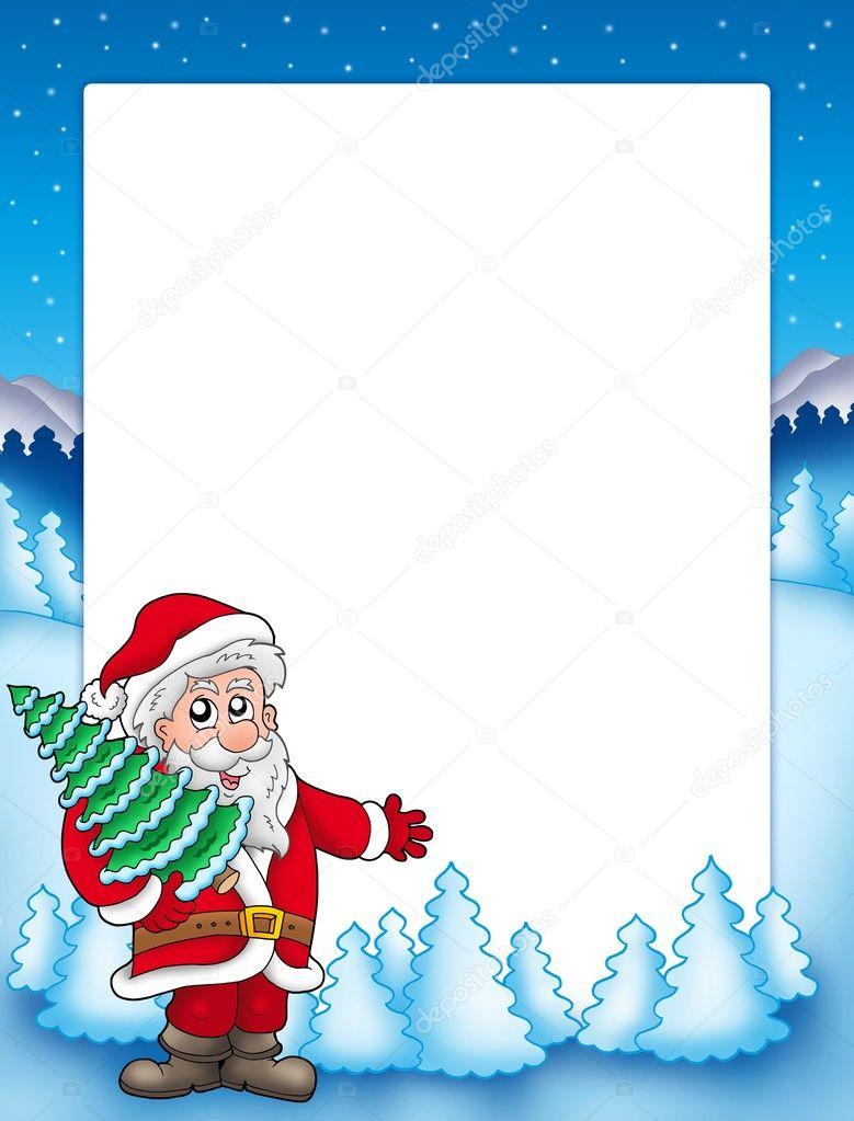 weihnachten rahmen mit nikolaus 4 stockfoto clairev. Black Bedroom Furniture Sets. Home Design Ideas