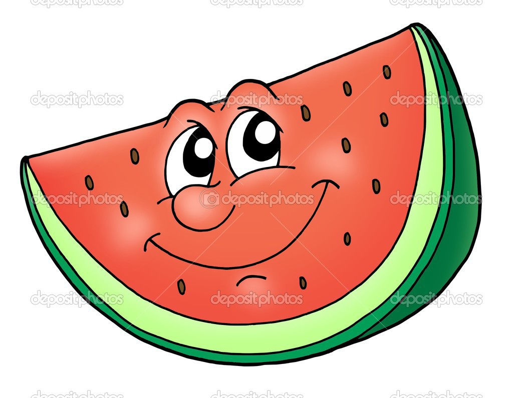 Watermelon Cartoon Images Slice of watermelon - color