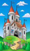 Středověký hrad na kopci — Stock fotografie