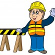 Cartoon construction worker — Stock Vector