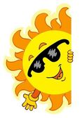 Waving cartoon Sun — Stock Vector