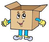 Cartoon cardboard box — Stock Vector