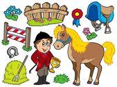 Horse collection — Stock Vector