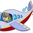 Royalty-Free Stock Vector Image: Cartoon aviator