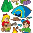 Royalty-Free Stock Vector Image: Holiday camping collection