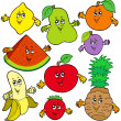 Various cartoon fruits — Stock Vector #3208666