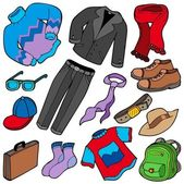 Erkek giyim koleksiyonu — Stok Vektör