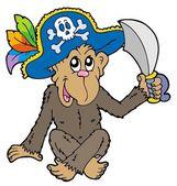 Pirat monkey — Stockvektor