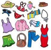 Kadın giyim koleksiyonu — Stok Vektör