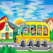 School bus on road — Stock Photo