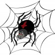 Big cartoon spider - Stock vektor