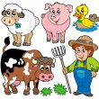 Farm cartoons collection — Imagen vectorial