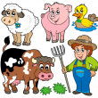 Stock Vector: Farm cartoons collection