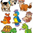 Pet cartoons collection - Stock Vector