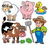 Farm cartoons collection — Stock Vector