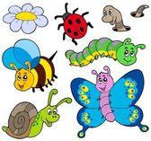 коллекция сада животных — Cтоковый вектор