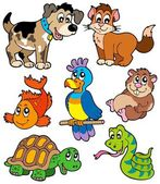 Pet cartoons collection — Stock Vector