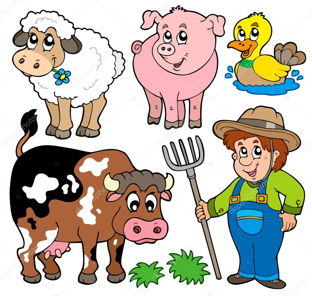 Farm cartoons collection - vector illustration. — Stock Vector #3400558