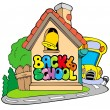 Back to school theme 2 — Stock Vector