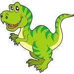 Cartoon tyrannosaurus rex — Stock Vector #3569406