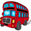 Stock Vector: Doubledecker bus