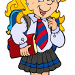 Royalty-Free Stock Vector Image: Girl in school uniform