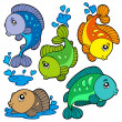 Freshwater fishes collection — Stock Vector #3569428