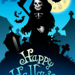 Halloween image with grim reaper — Stock Photo