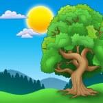 Green leafy tree in landscape — Stock Photo #3690522