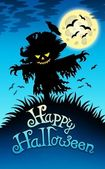 Halloween image with scarecrow — Stock Photo