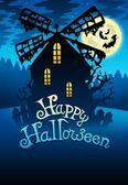 Mysterious Halloween mill 1 — Stock Photo