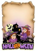 Parchment with Halloween theme 1 — Stok fotoğraf
