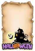 Parchment with Halloween theme 2 — Stock Photo