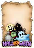 Parchment with Halloween theme 3 — Stock Photo