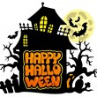 Royalty-Free Stock Vector Image: Happy Halloween theme 2