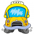 Cartoon taxi car — Stock Vector