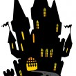 Royalty-Free Stock Vektorgrafik: Castle on hill silhouette