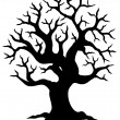 Hollow tree silhouette — Stockvectorbeeld