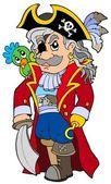 Cartoon noble corsair — Stock Vector