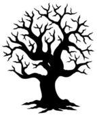 Vykotlaný strom silueta — Stock vektor
