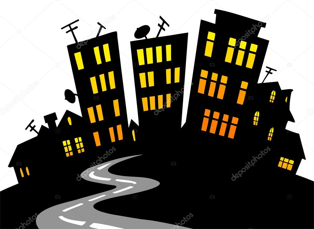 Cartoon City Skyline Cartoon City Skyline Vector