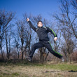 Happy Boy Jumping — Stock Photo