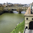 Florence with Ponte Veccio — Stock Photo