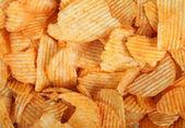 Potato chips background — Stock Photo