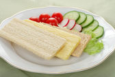 Dietetic breakfast — Stock Photo