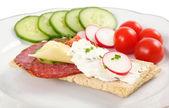 Dietetic sandwich — Stock Photo