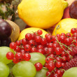 Large heap of fresh fruit — Stock Photo